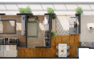 Apartamento a Venda no bairro Embare em Santos – SP. 1 banheiro