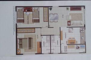 Apartamento com 2 dormitórios com 1 suíte  novo em  São Vicente ,elevador, garagem, lazer fica próximo Carre four e praia