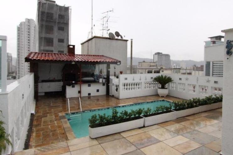 Gonzaga Apartamento de Cobertura Ampla com 523 metros de área útil com 4 dormitórios sendo 3 suítes e 3 garagens fechadas - foto 6