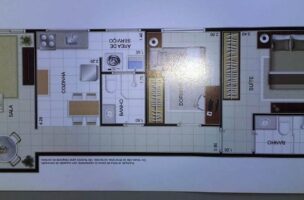 Apartamento com 2 dormitórios com 1 suite  novo em  São Vicente ,elevador, garagem, lazer fica próximo Carre four e praia