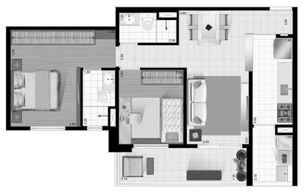 apartamento com 2 dormitórios com suite e uma varanda ,próximo avenida ana costa  prédio com lazer - foto 20