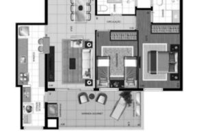 apartamento novo 2 dormitórios com 1 suite e uma varanda gourmet.