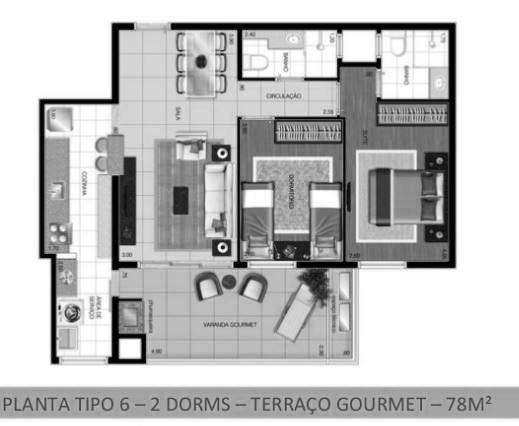 apartamento novo 2 dormitórios com 1 suite e uma varanda gourmet. - foto 16