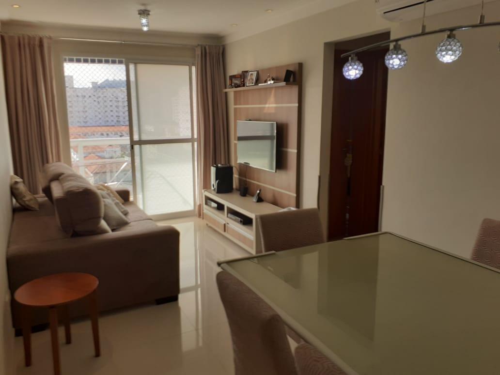 Vila Belmiro 2 dormitórios com banheiro de empregada e lazer completo no canal 2 - foto 1