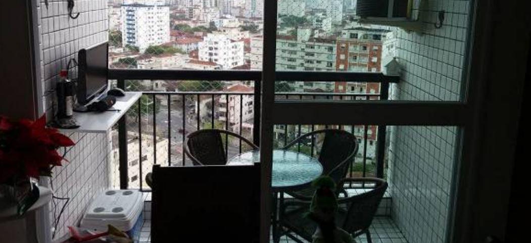 Apartamento no  Macuco com sala ampla com sacada e atende 2 ambientes 2 dormitorios sendo 1 suite. - foto 10