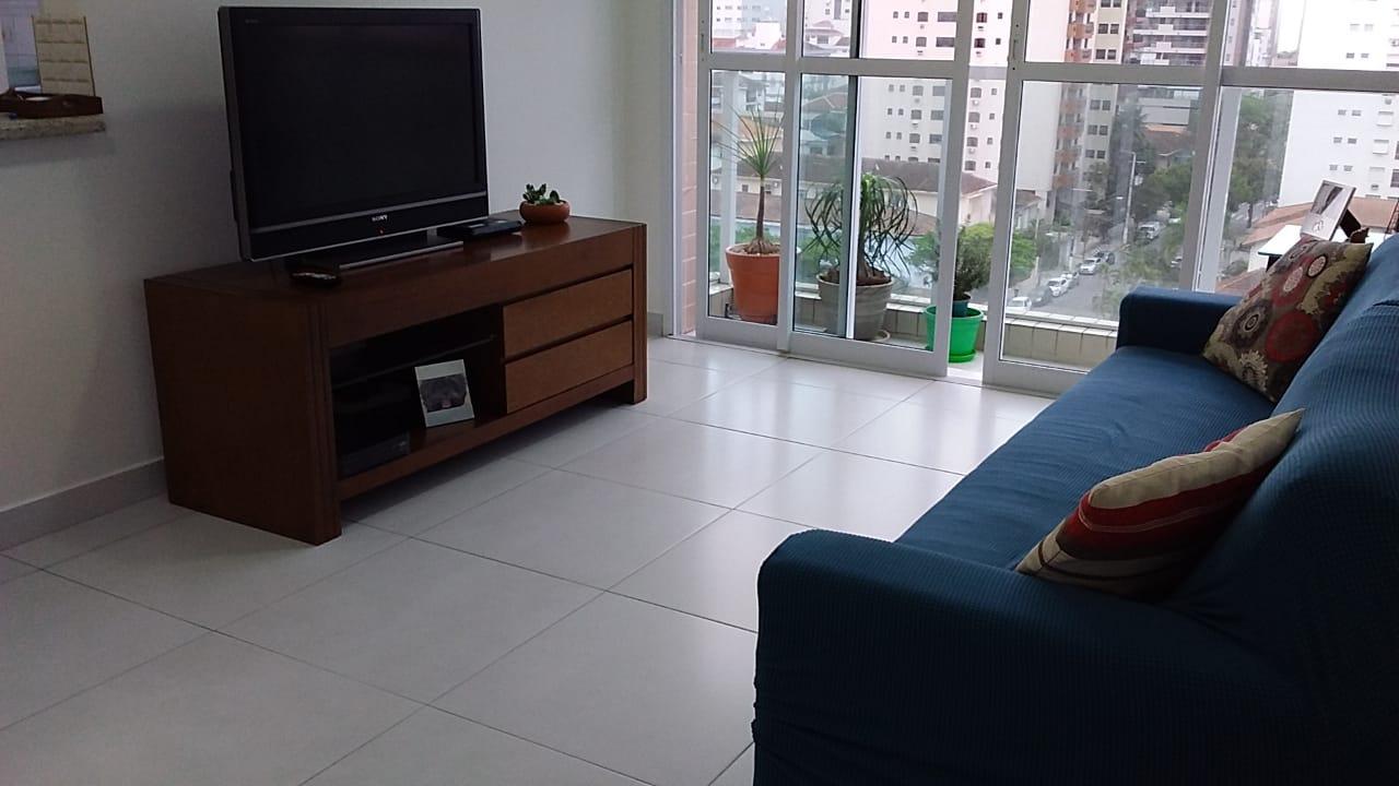 Aparecida próximo a praia e shopping praia mar apartamento seminovo andar alto todo com vista livre. - foto 3